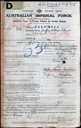 Service Records 22 May 1917